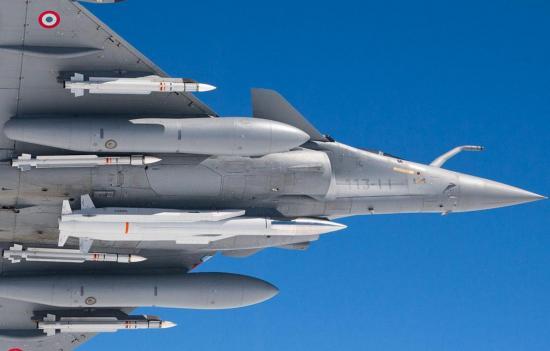 Rafale du Gascogne porteur du missile ASMP-A