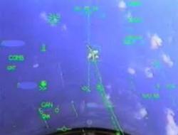 F-18 dans le HUD d'un Rafale