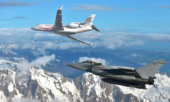 Falcon 7X et Rafale