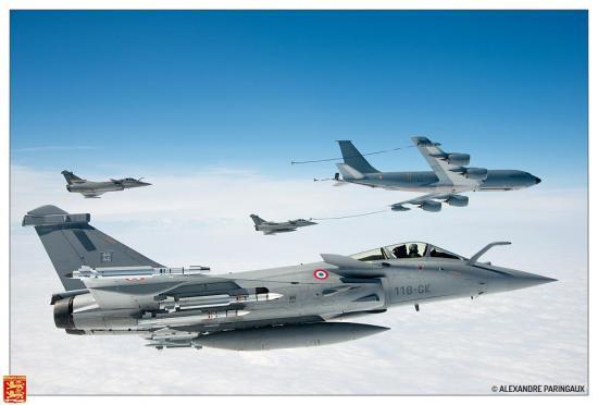 Rafale du Normandie Niemen en configuration défense aérienne