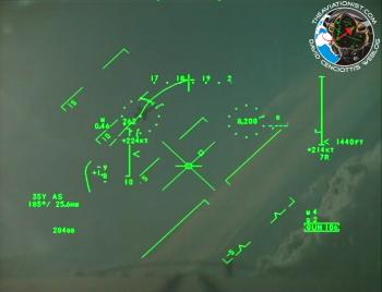 Visualisation Tête Haute (HUD) du Typhoon