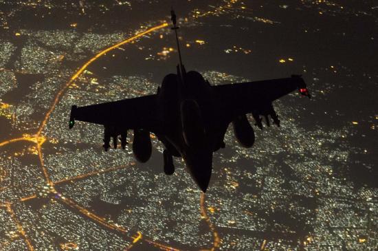 Vol de nuit au dessus de Bagdad